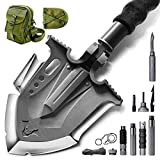 Zune Lotoo Survival Camping Shovel Folding Tactical Gear Military with Patented 6 Shifted Key and Casting Technology,24 in 1 Multifunctional Outdoor Folding for Off-Roading,Camping and Hiking,F-A3