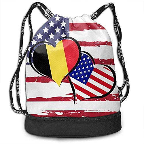 jenny-shop Bélgica Bandera Americana Corazones Amor Bolso c