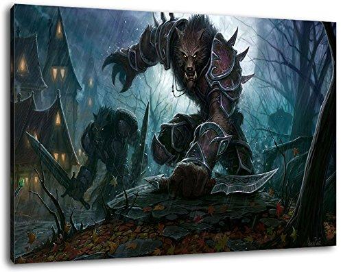 World of Warcraft Format 80x60 cm Bild auf Leinwand, XXL riesige Bilder fertig gerahmt mit Keilrahmen, Kunstdruck auf Wandbild mit Rahmen