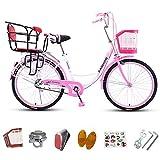Tandem Bicicletas conveniente para llevar a su bebé, los padres del niño-bici de la ciudad con dos sillas de montar para las madres lactantes, ligero madre-hijo de bicicletas Family Outing,B4