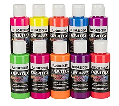 Createx Colors 2-Ounce AB Primary Set Airbrush