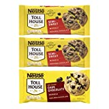 CHOCOLATE VARIETY PACK – Nestlé Toll House Chocolate Chips 3 pack includes two, 12 oz. Bags of Semi-Sweet Chocolate Chips and one, 10 oz. Bag of Dark Chocolate Chips – everything you need to keep your pantry stocked! 100% REAL CHOCOLATE – Nestlé Toll...