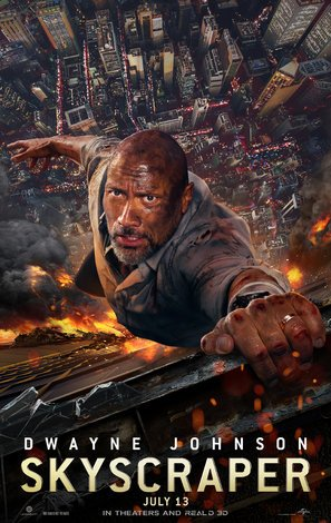 Import Posters Skyscraper – Dwayne Johnson – U.S Movie Wall Poster Print - 30CM X 43CM