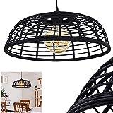 Lámpara de techo Mongoli, de ratán/bambú en negro, 1 foco, 1...