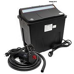 SunSun Bio Pond Filter CBF-200T Filtersystem komplett med 9 W UVC och dammpump 2300 L/h 35 W
