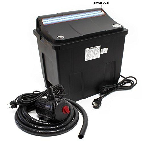 SunSun Bio Teichfilter CBF-200T Filteranlage komplett mit 9 W UVC und Teichpumpe 2300 L/h 35 W