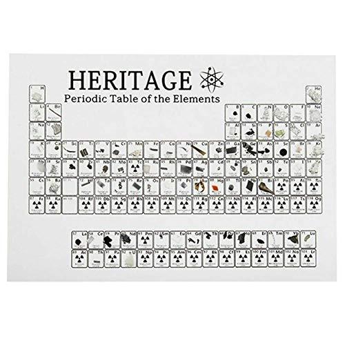 Phnirva Cristal Tabla Periódica, Acrílico Tabla Periódica Pantalla con Elementos Estudiante Profesor Regalos Manualidades Decoración