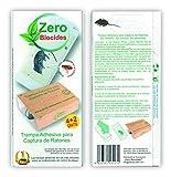 Zero Biocides 6 Trampas para Ratones con atrayente incorporando Fabricadas en España