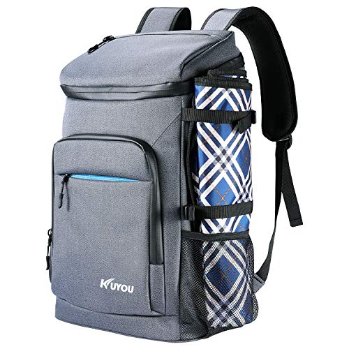Leak-Proof Cooler Backpack,33L(48-Can) Large Insulated Picnic Lunch...