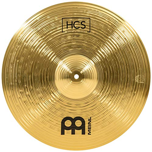 Meinl Cymbals HCS 18 Zoll Crash Becken für Schlagzeug – Messing, traditionelles Finish (HCS18C)