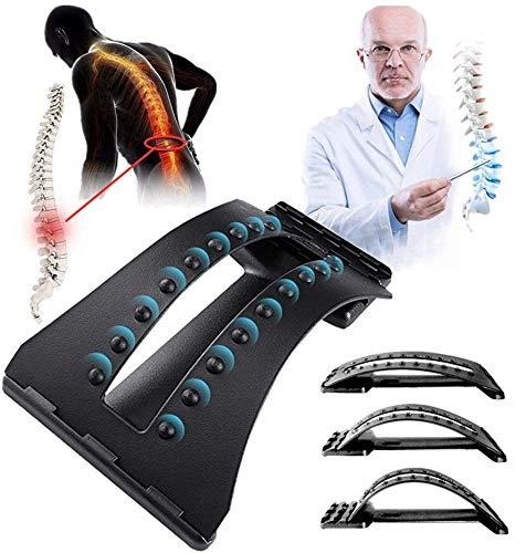 SDDFA Lendenwirbel-Dehner, 3-Fach Verstellbarer Rahmen Zur Beruhigung Der Wirbelsäule, Massagegerät zur Linderung von Muskelverspannungen