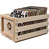 Crosley Record Storage Crate Holds up to 75 Albums, Natural