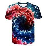 Camiseta Hombre 3D Camisetas de Manga Corta Divertidas Camiseta de Moda para Hombre, impresión de túnel Espacial XXL