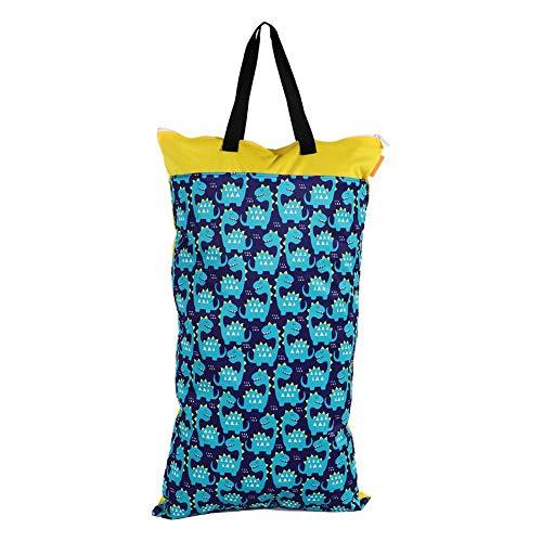 Waterdichte natte tas, 40x70 waterdichte bedrukte luiertas met dubbele rits voor baby, veiligheid en stevig, luierluier opbergtas voor reizen, strand(EF77)