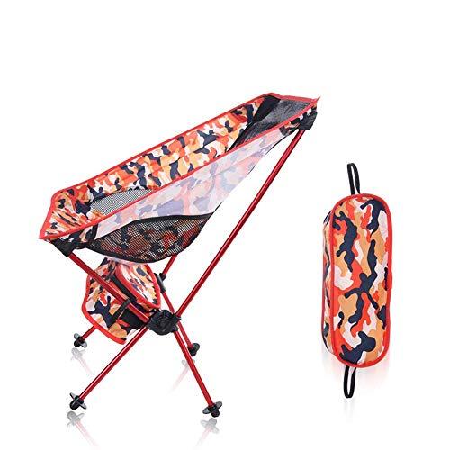 LHQ-HQ Camo Camping Silla de Playa portátil Ligero y portátil Silla Plegable Muebles de jardín Sillas de Juegos portátil Ultraligero Orange