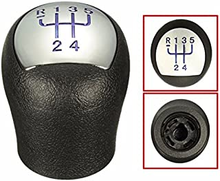 FeLiCia Coche Cromo Cuero 6 Engranaje Stick Palanca De Cambio Pomo para Mazda 3 5 6 3 Serie Cx-7 MX-5