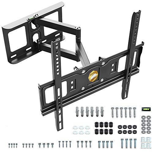 RICOO S5144 TV Bracket Tilt Swivel approx 30-55 Inch for LED LCD OLED Curved and Flatscreens Wall Mount Universal for VESA 200x200-400x400