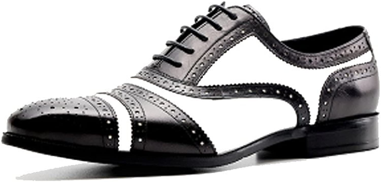 NIUMJ Herren Business Casual Bullock Geschnitzt Outdoor-Schuhe Schnürung B07FBSQ1G1  | Die Königin Der Qualität