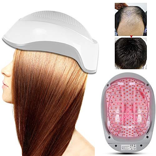 Casque professionnel pour la repousse des cheveux, restaurateur de cheveux 180pcs puces légères restaurateur de cheveux puces légères, suppléments de perte de cheveux système de repousse des cheveux c