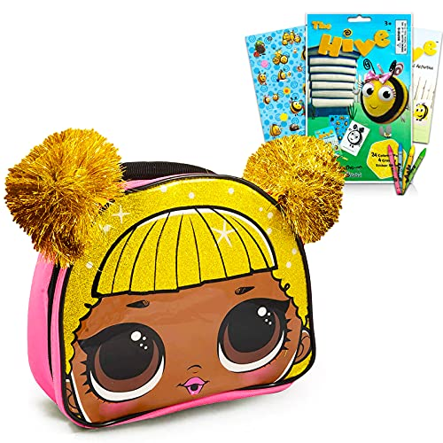 Lol Dolls Lunch Box Lol Dolls School Supplies Set - Premium Lol Lunch Bag with The Hive Coloring Booklet, Stickers, And More! (Lol Dolls Bag Bundle)