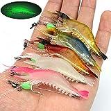 OriGlam 【Happy Shopping Day】 5pcs Soft Luminous Shrimp Lure Set, 5...