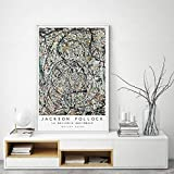 HNZKly Jackson Pollock Abstracto Pinturas Fino Arte Poster Pop Arte Jackson Pollock Pared Arte Lienzo Impresiones Pared Cuadros Salon Hogar Decoracion 40x60cm / Sin Marco Art