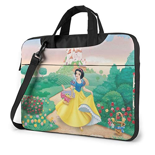 White Snow and Seven Dwarfs Laptop Sleeve Bag Case 15.6 inch MacBook Air Pro Notebook Sleeve Case Portable Briefcase Tote Cases
