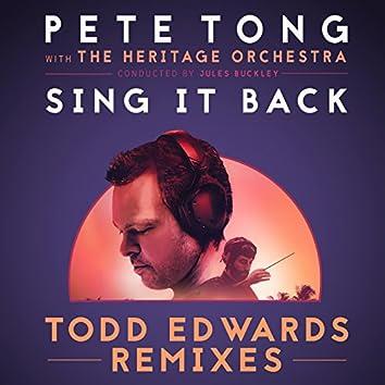 Sing It Back (Todd Edwards Remixes)