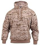 Rothco Pullover Hooded Sweatshirt, Desert Digital Camo, Medium