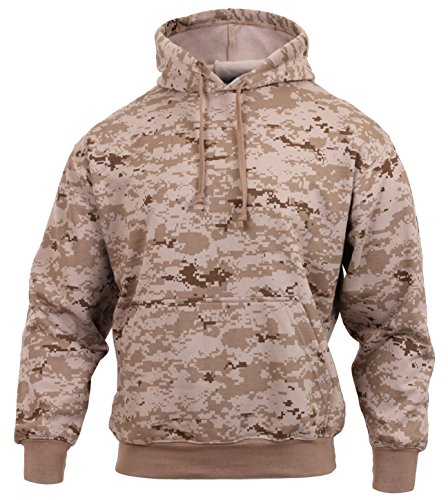 Rothco Camo Pullover Hooded Sweatshirt, Desert Digital Camo, XL
