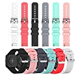 Bands Compatible with <span class='highlight'><span class='highlight'>YAMAY</span></span> SW021 SW023 ID205L ID205U ID205S Wristbands Colorful Silicone Waterproof Replacement Bracelet Strap for SW021 SW023 ID205L ID205U ID205S Smart Watch