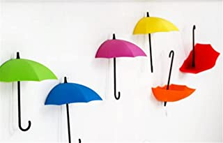 sac taske 壁面収納 傘 2way 壁掛け 傘型 パラソル フック 小物入れ & スイッチデコ (7色 9個 セット)
