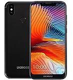 DOOGEE BL5500 LITE - Smartphone Libero Android 8.1 (LTE 4G) - ultrasottile con batteria da 5500 mAh, schermo U-notch da 6,19 pollici (rapporto a visualizzazione completa 19: 9), Nero