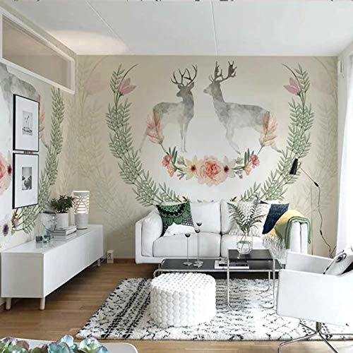 Elk European Mural Wallpaper Vlies Fototapete Wohnzimmer Arbeitszimmer Retro Art Wanddekoration Neuheit Wandbild Elk-350x210cm