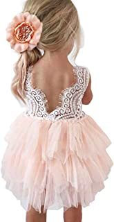 Backless A-line Lace Back Flower Girl Dress