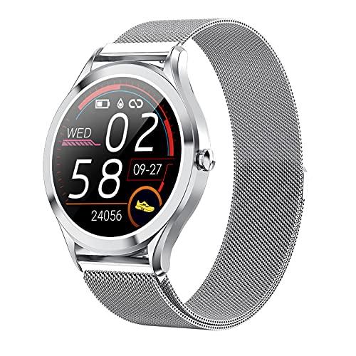 BNMY Smartwatch Pantalla De 1,3 Pulgadas Reloj Inteligente Impermeable IP67 con Pulsómetros para Mujer Hombre, Pulsera De Actividad Inteligente con Monitor De Sueño Contador De Caloría Cronógrafo,C