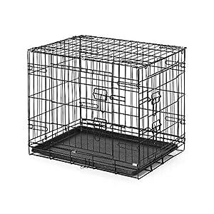 """IKayaa Cage de Chien Pliable en M¨¦tal Avec Bac + 2 Portes Cat Rabbit Pet Kennel House Pour Animal 24 """"/ 30"""" / 36 """"/ 42"""""""