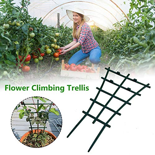 6 Pcs Plant Stem Support Mini Climbing Trellis Flower Vegetable Supports Plastic Superimposed Garden DIY Tools, for Courtyard Indoor Outdoor Climbing Plants