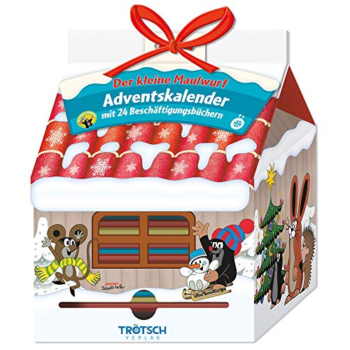Trötsch Der kleine Maulwurf Adventskalender Haus mit 24 Minibüchern: Weihnachtskalender Pauli