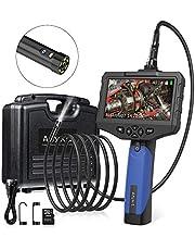 SDカード対応式内視鏡カメラ Anykit工業ファイバースコープ 4.3inch液晶モニターディスプレー 内視鏡カメラ 100万画素CMOSカメラ搭載エンドスコープ IP67防水 LEDライト付き工業内視鏡 写真撮りやビデオ録画対応 ハンドヘルド内視鏡 企業設備点検、空調設備内部検修監視などに対応され