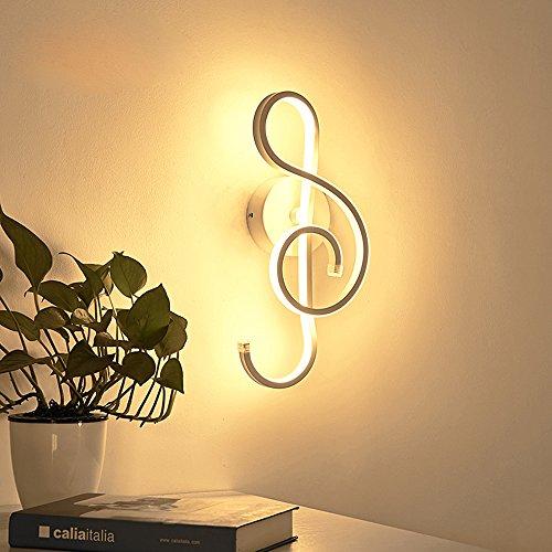 22W Modern Design schönem Musik Symbole LED Wandleuchte Innen minimalistische Wandlampe Wandbeleuchtung Creative Innenleuchten Aluminium Leuchten Dekoration in Korridor loft Schlafzimmer (Weiß)