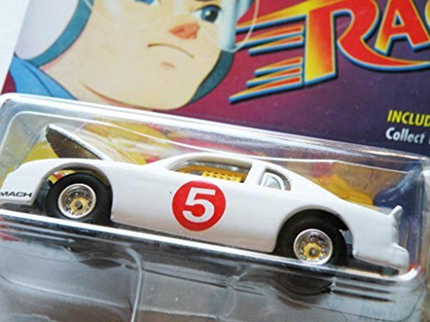 Johnny Lightning Speed Racer 2000  Mach 5 Stock Car  with Bonus Film Strip Token by Playing Mantis
