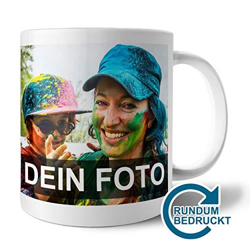 Panorama-Tasse mit Foto Bedrucken Lassen | Fototasse selbst gestalten mit individuellem Foto und Text | Geschenk-Idee für Opa, Oma, Papa, Mama u.v.m.