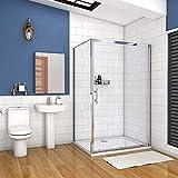 AICA cabine de douche 100x100cm porte coulissante plus une paroi latérale hauteur :190cm
