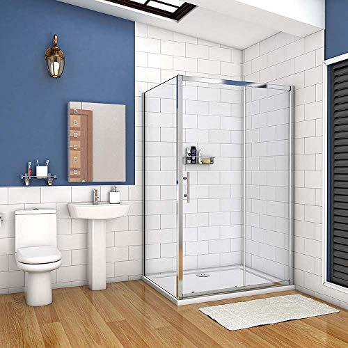 AICA cabine de douche 100x80cm porte coulissante plus...