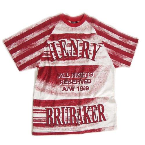 BRUBAKER - Maglietta originale USA Henry, colore rosso, M-XXL rosso/bianco L
