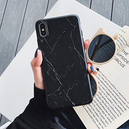 Glqwe Caja del teléfono del iPhone for el 11 Pro MAX XR XS X MAX 6 7 8 S Plus Suave mármol de la Vendimia Lindo Cuerpo Completo Volver Cubierta del teléfono