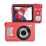 LongOu Digitalkamera 1080P Full HD 30 Megapixel Fotoapparat Digitalkamera 2,7-Zoll-LCD Kompaktkamera Fotokamera mit 8-fachem Zoom für Senioren (Rot)