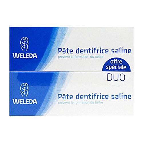 Weleda Duo Pâte dentifrice saline anti tartre 75mlx2 soit 150ml