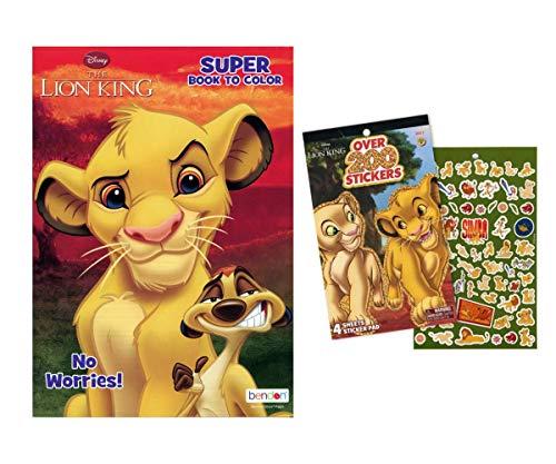 Set regalo con libro da colorare e adesivi di Re Leone Disney – Bundle include libro da colorare con adesivi